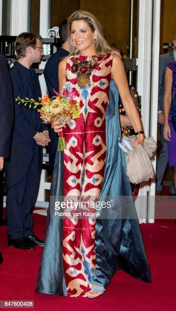 Queen Maxima of The Netherlands attend the premiere of the ballet performance Ode to the Master at the National Opera Ballet on September 15 2017 in...