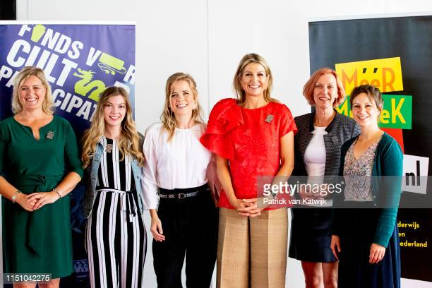 Queen Maxima of The Netherlands attend the signing ceremony of the cooperation agreement of music education in Drente on June 20, 2019 in Hoogeveen,...