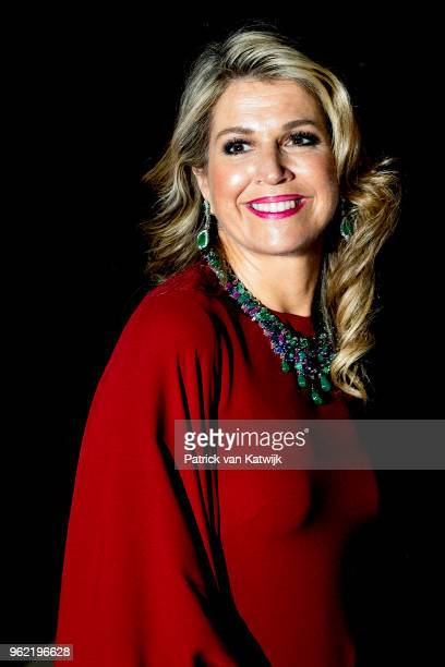 Queen Maxima of The Netherlands attends a concert offered to the Grand Ducal family on May 24 2018 in Luxembourg Luxembourg The Dutch King and Queen...
