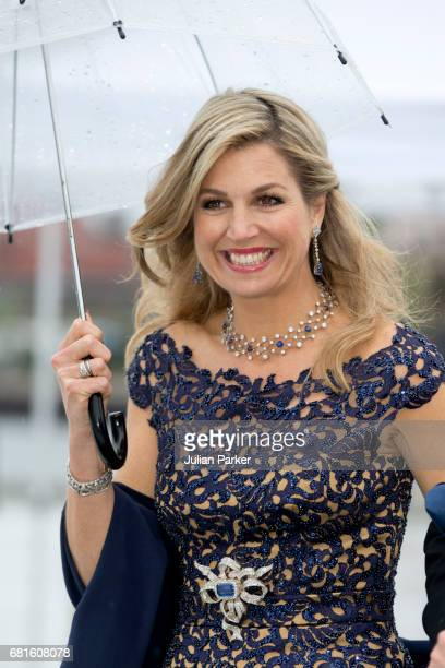 Queen Maxima of The Netherlands attends a Gala Banquet hosted by The Government at The Opera House as part of the Celebrations of the 80th Birthdays...