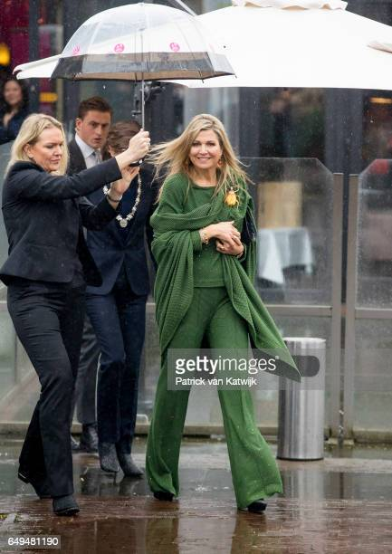Queen Maxima of The Netherlands attends a meeting at Foundation Single Supermom on International Women's Day on March 8 2017 in Amsterdam Netherlands...