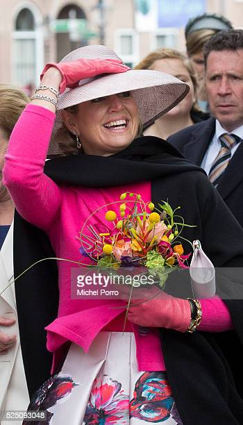 Queen Maxima of The Netherlands attends celebrations marking the 49th birthday of the king on King's Day on April 27, 2016 in Zwolle, Netherlands.