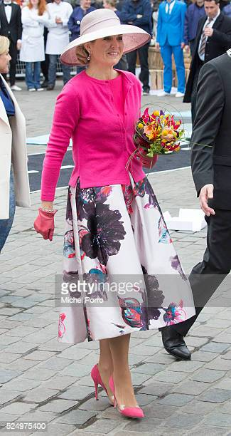 Queen Maxima of The Netherlands attends celebrations marking the King's 49th birthday on King's Day on April 27 2016 in Zwolle Netherlands