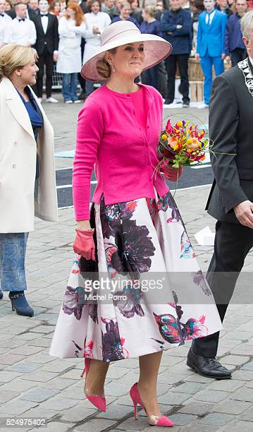 Queen Maxima of The Netherlands attends celebrations marking the King's 49th birthday on King's Day on April 27, 2016 in Zwolle, Netherlands.