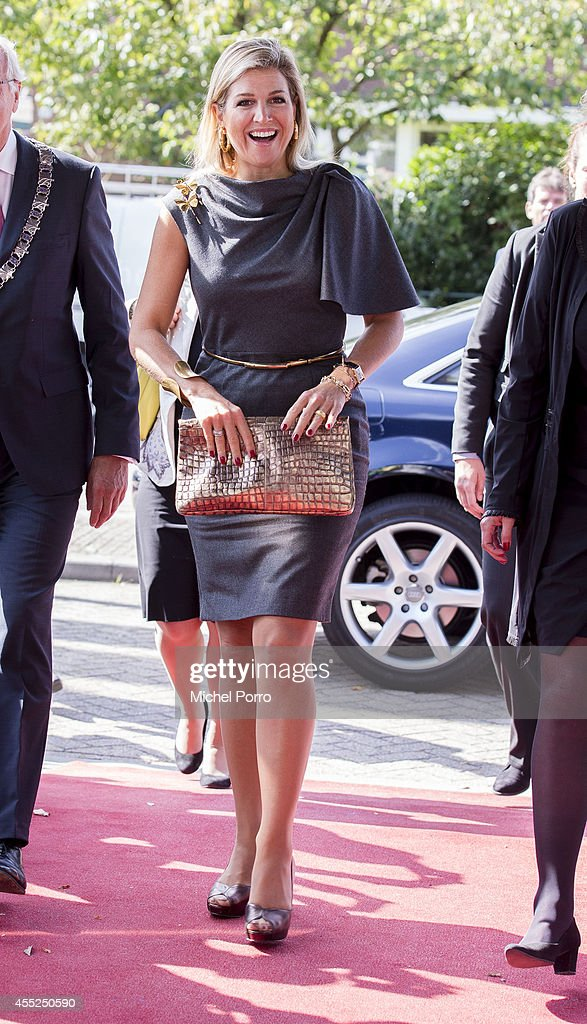 Queen Maxima Of The Netherlands Attends Financial And Pension Seminar : News Photo