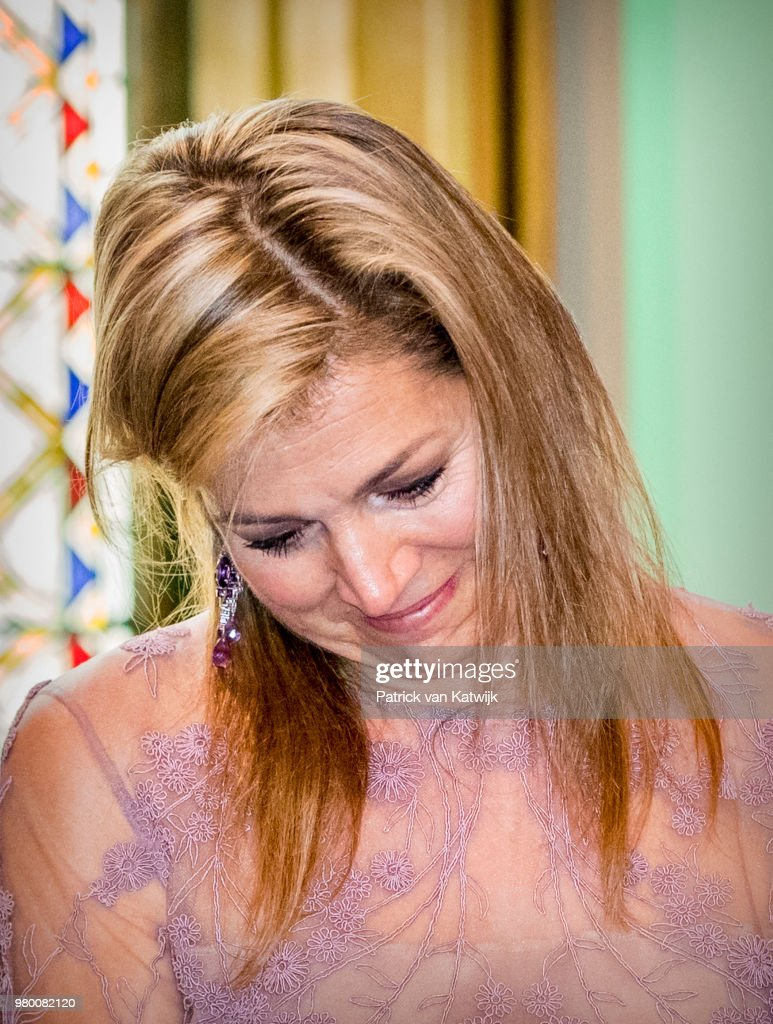 Queen Maxima Of The Netherlands  Attends Jubilee Money Wise In The Hague