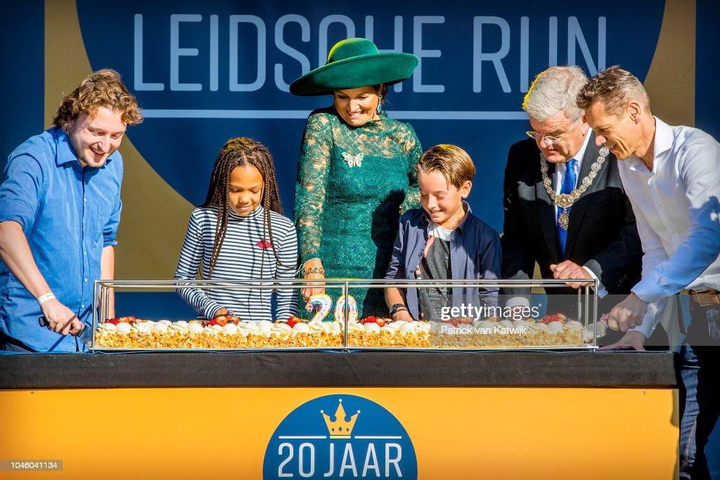 Queen Maxima Of the Netherlands Celebrates 20th Anniversary Of Leidsche Rijn : Nieuwsfoto's