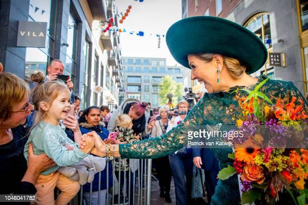 Queen Maxima of The Netherlands attends the 20th anniversary of the Leidsche Rijn area in Utrecht on October 5 2018 in Utrecht Netherlands