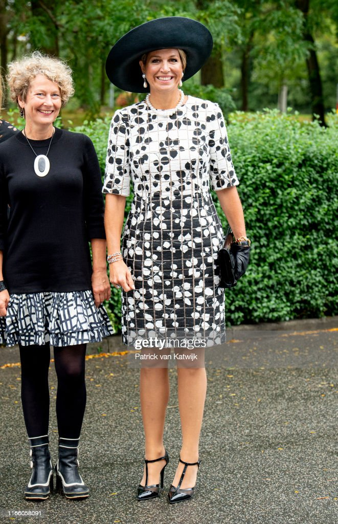 Queen Maxima at 40th anniversary child phone support : News Photo