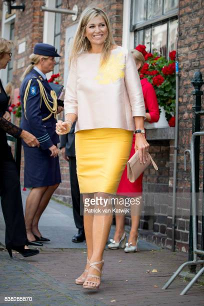 Queen Maxima of The Netherlands attends the 650th anniversary of the Bartholomeus Gasthuis on August 24 2017 in Utrecht NetherlandsThe Bartholomeus...