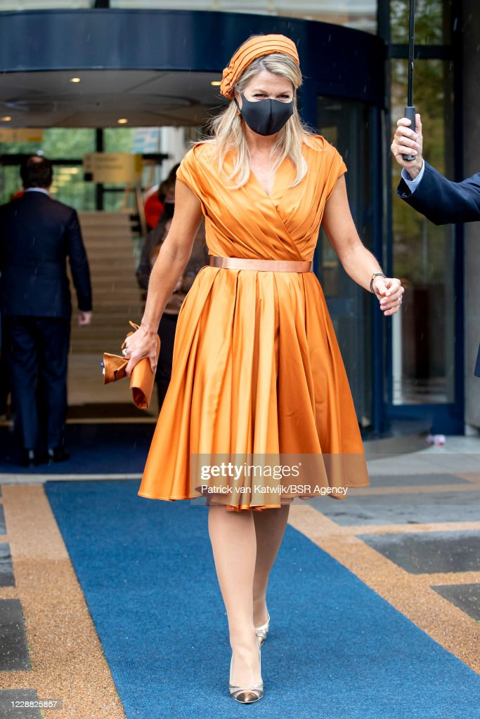 Queen Maxima Of The Netherlands Attends The Jubilee Social Economic Council In The Hague : News Photo