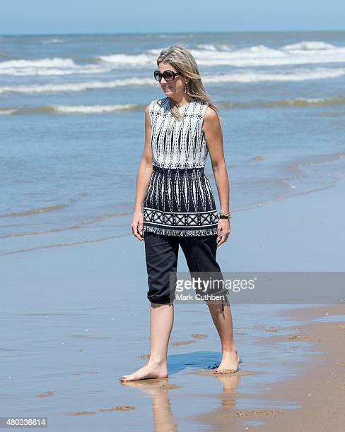 Queen Maxima of the Netherlands attends the annual summer photocall on July 10 2015 in Wassenaar Netherlands