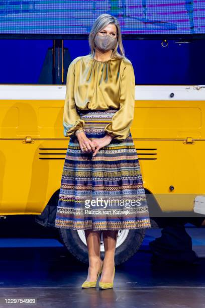 Queen Maxima of The Netherlands attends the award ceremony of the Prince Bernhard Culture Foundation on November 23, 2020 in Amsterdam, Netherlands.