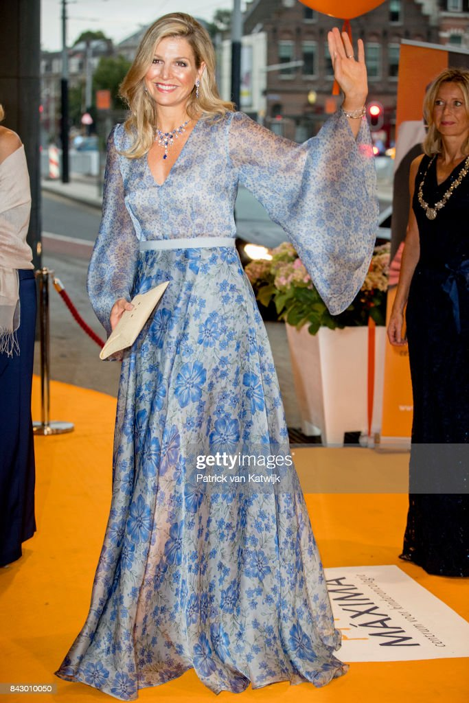 Queen Maxima attends charity gala diner for Princess Maxima Center for oncology in Amsterdam : Nieuwsfoto's