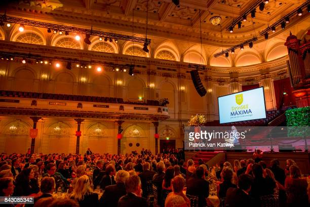 Queen Maxima of The Netherlands attends the benefit gala dinner for the Princess Maxima Center for childrenÕs oncology in the Concertbuilding on...