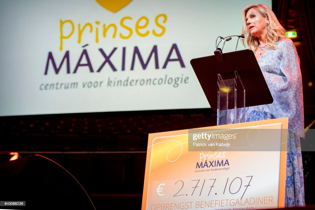 Queen Maxima attends charity gala diner for Princess Maxima Center for oncology in Amsterdam : News Photo