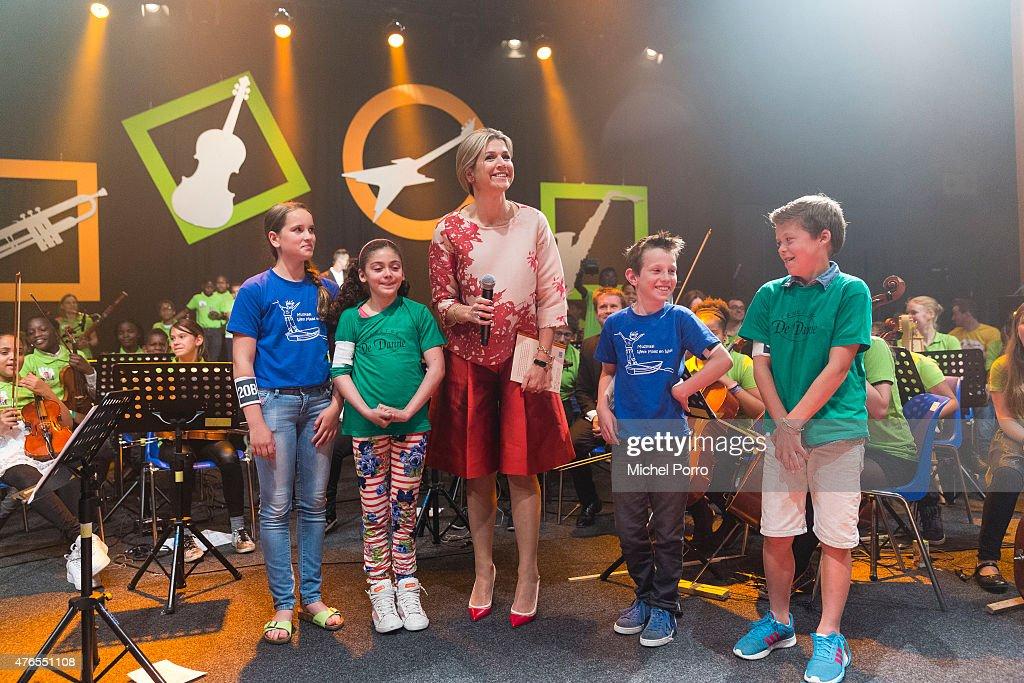 Queen Maxima Of The Netherlands Attends Children's Concert : News Photo