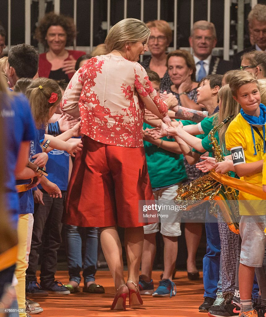 Queen Maxima of The Netherlands attends the concert Children Make Music on June 10, 2015 in Utrecht Netherlands. The aim of the initiative is to facilitate as many children as possible to play a musical instrument and to create more social cohesion