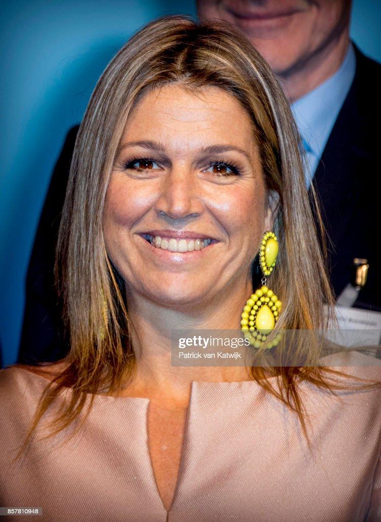 Queen Maxima  Of The Netherlands Attends Gender & Health Of Women Congres In Amersfoort : News Photo