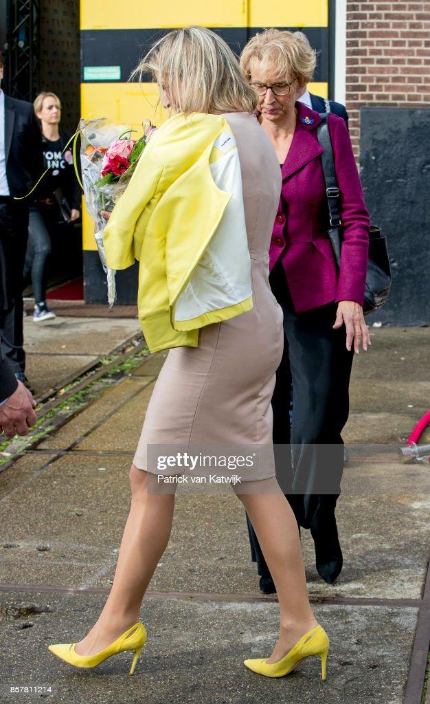 Queen Maxima  Of The Netherlands Attends Gender & Health Of Women Congres In Amersfoort : Nieuwsfoto's