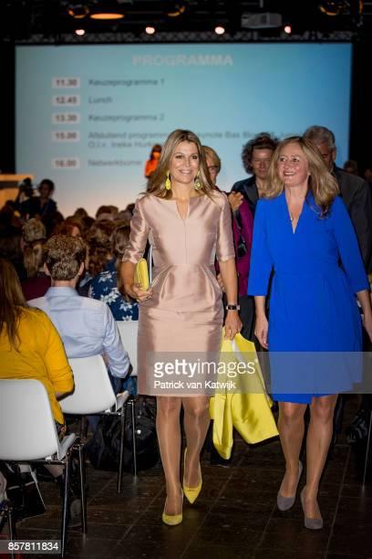 Queen Maxima of The Netherlands attends the congress Gender and health of WOMEN Inc in the Rijtuigenloods on October 5 2017 in Amersfoort Netherlands...