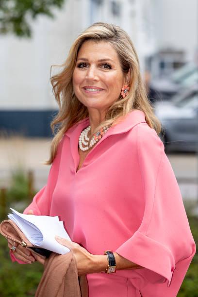 "NLD: Queen Maxima Of The Netherlands Attends A Digital Presentation ""Appeltjes Van Oranje"""