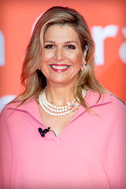 "NLD: Queen Maxima Of The Netherlands Attends A Digital Presentation ""Appeltjes Van Oranje"""