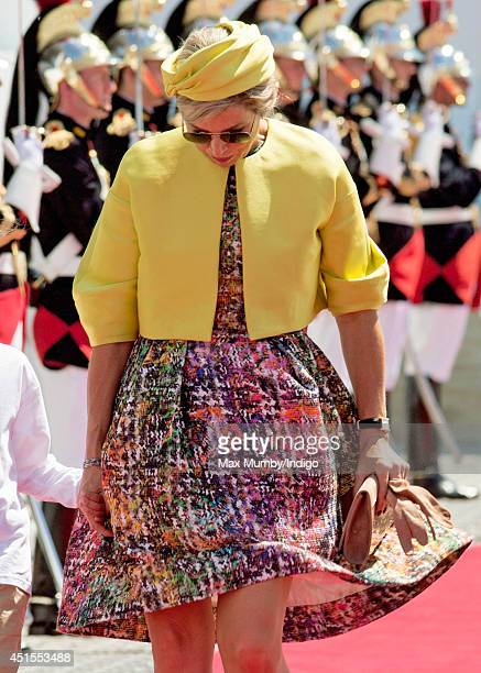 Queen Maxima of The Netherlands attends the International Ceremony at Sword Beach to commemorate the 70th anniversary of the DDay landings on June 6...