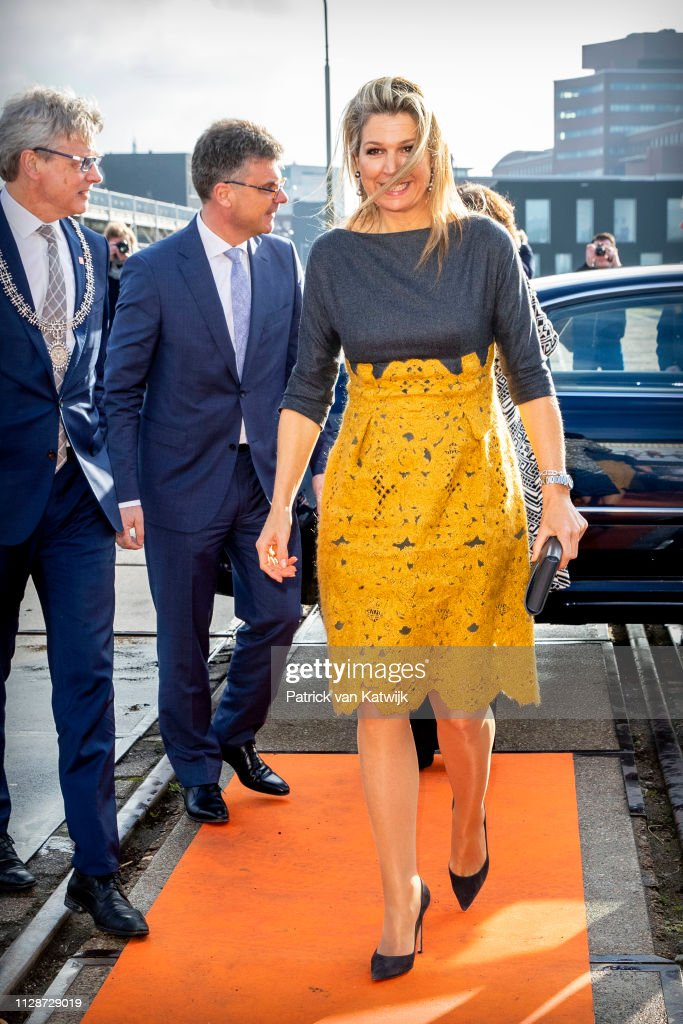 Queen Maxima Of The Netherlands Attends The Jubileumsymposium Qredits In Amersfoort : Nieuwsfoto's