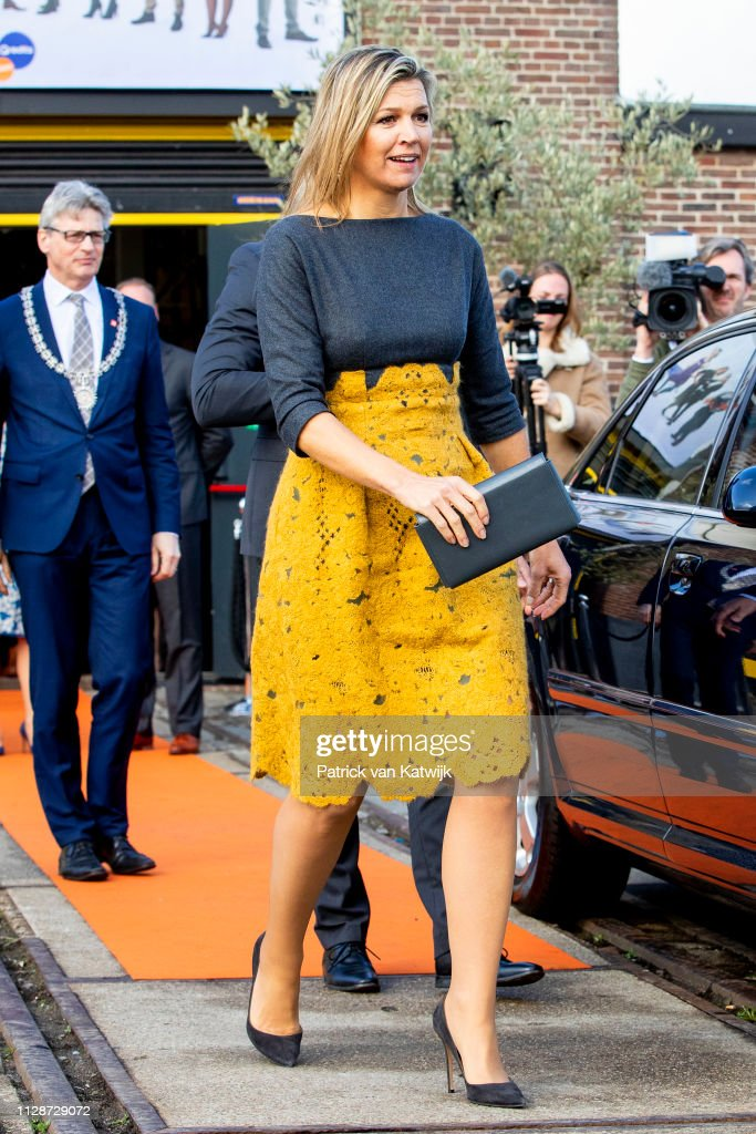 Queen Maxima Of The Netherlands Attends The Jubileumsymposium Qredits In Amersfoort : News Photo