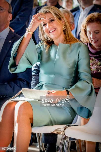 Queen Maxima of The Netherlands attends the King Willem I lecture at Koppert Cress on October 3 2017 in Westland Netherlands Queen Maxima is honorary...