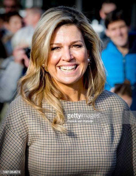 Queen Maxima of The Netherlands attends the launch of the debt lab NL in on November 14, 2018 in The Hague, Netherlands. The debt lab is an...
