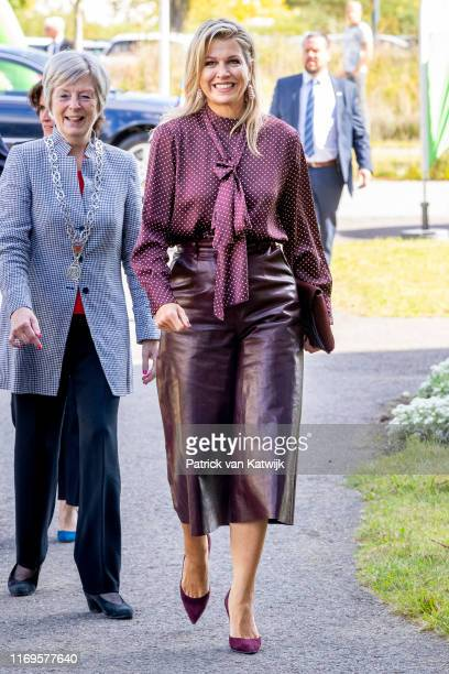 Queen Maxima of The Netherlands attends the meeting of NLgroeit at Centraal Beheer on September 19, 2019 in Apeldoorn, Netherlands. Nlgroeit is a...