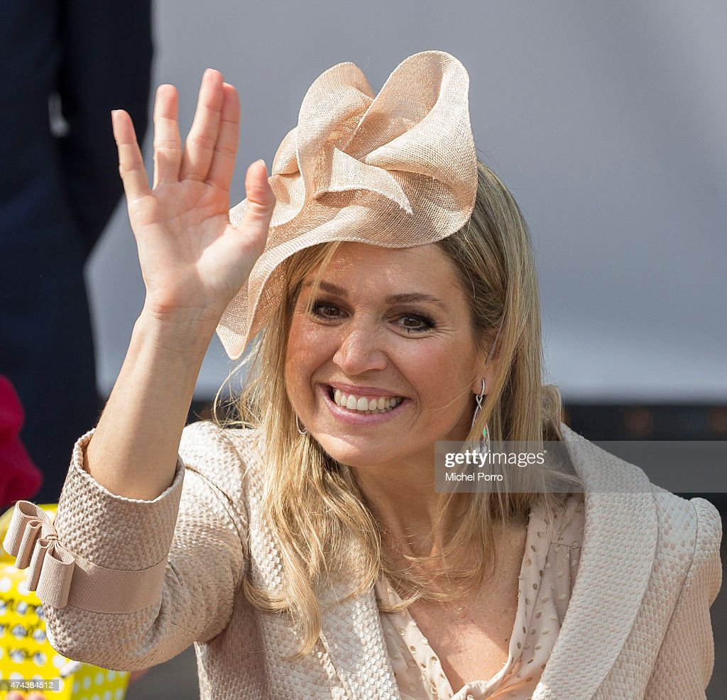 Queen Maxima of The Netherlands attends the opening of the new Koninklijke Kentalis diagnostic care education centre for people with a severe hearing and or vision disability on May 22, 2015 in Zoetermeer, Netherlands.