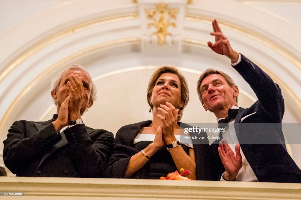 Queen Maxima of The Netherlands attends the opening of the new season of the Concertgebouw orchestra on September 14, 2017 in Amsterdam, Netherlands.