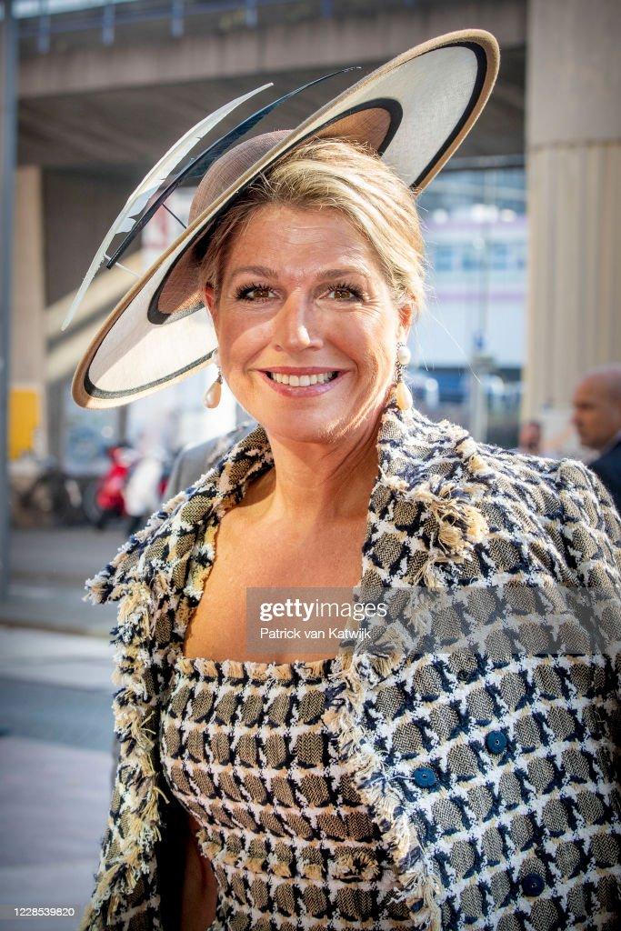 Queen Maxima Of The Netherlands Open Theater Zuidplein in Rotterdam : News Photo