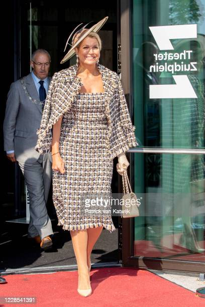 Queen Maxima of The Netherlands attends the opening of Theater Zuidplein on September 16 2020 in Rotterdam Netherlands