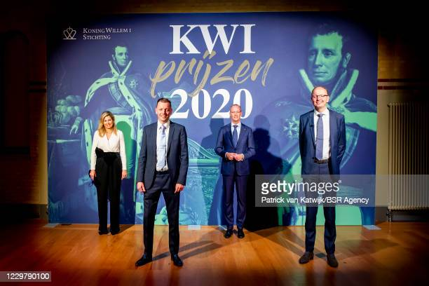 Queen Maxima of The Netherlands attends the presentation of the winners of the King Willem I entrepreneurs award in the Beurs van Berlage on November...
