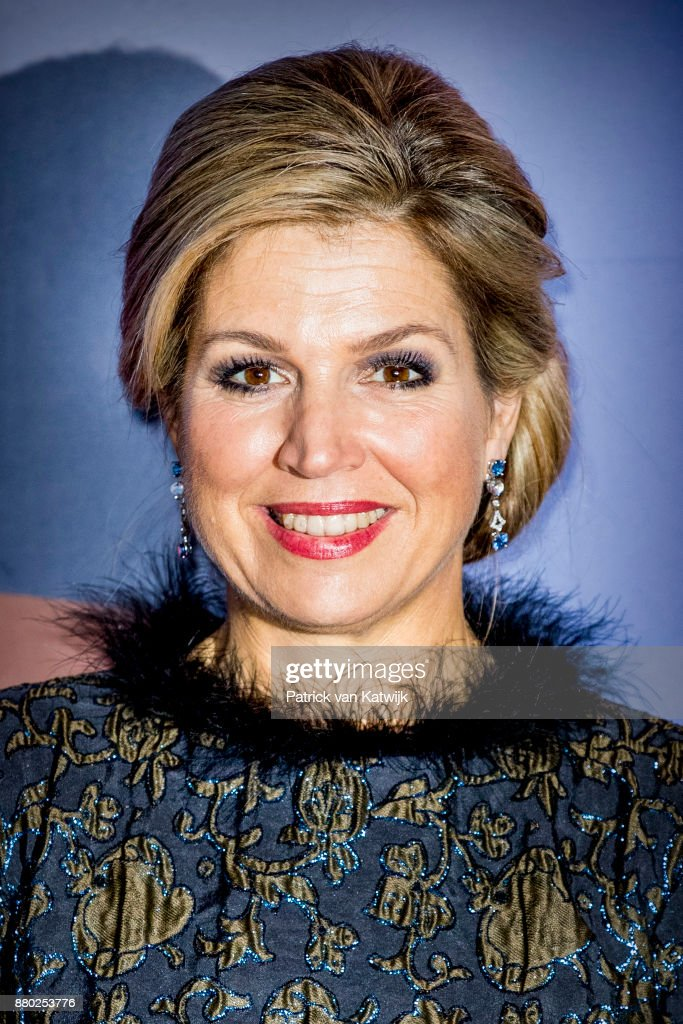 Queen Maxima Of The Netherlands &  Prince Bernhard Attend Culture Foundation award In Amsterdam