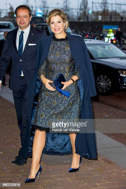 Queen Maxima of The Netherlands attends the Prince Bernhard Culture Foundation Award in the Muziekgebouw Aan't IJ on November 27 2017 in Amsterdam...