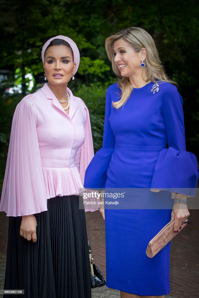 Queen Maxima of The Netherlands attends the Seminar On Protection & Education In Conflict Zones at the The Hague Institute for Global Justice on May 18, 2017 in The Hague, Netherlands.