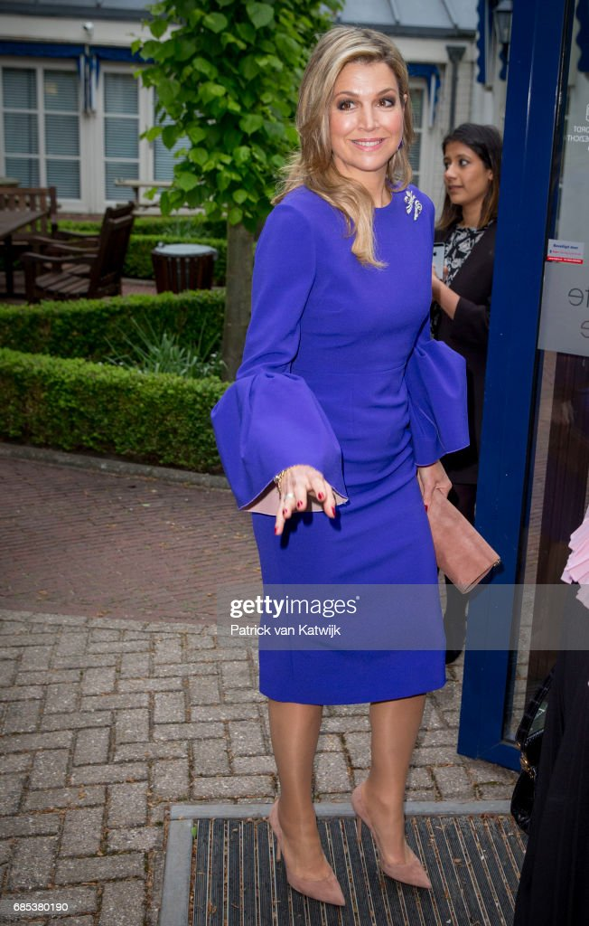 Queen Maxima Of The Nederlands Attends Seminar On Protection & Education In Conflict Zones In The Hague : News Photo