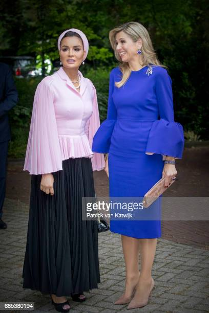 Queen Maxima of The Netherlands attends the Seminar On Protection Education In Conflict Zones at the The Hague Institute for Global Justice on May 18...