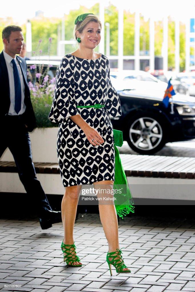 Queen Maxima Of The Netherlands Attends European Academy of Neurology congress At RAI In Amsterdam : News Photo