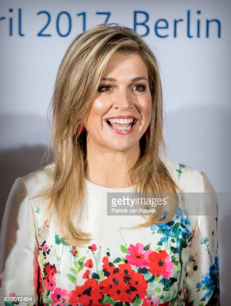 Queen Maxima of The Netherlands attends the W20 conference on April 25 2017 in Berlin Germany The conference part of a series of events in connection...