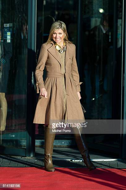Queen Maxima of The Netherlands attends the Women Inc gender sensitive health care seminar on March 7 2016 in Oegstgeest Netherlands