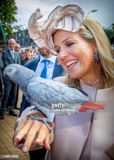 Queen Maxima of The Netherlands attends their region visit to South-West Drenthe on September 18, 2019 in Hoogeveen, Netherlands.
