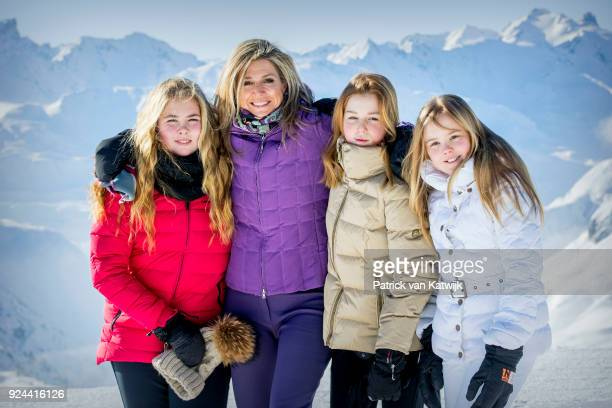 Queen Maxima of The Netherlands Crown Princess CatharinaAmalia of The Netherlands Princess Alexia of The Netherlands and Princess Ariane of The...