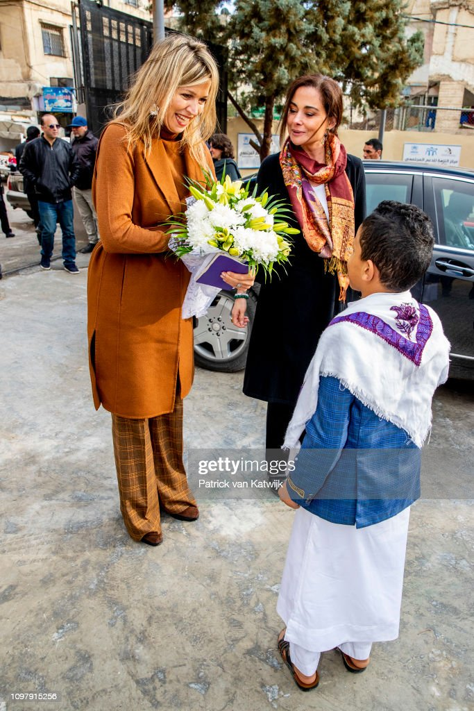 JOR: Queen Maxima Of The Netherlands Visits Jordan : Day One