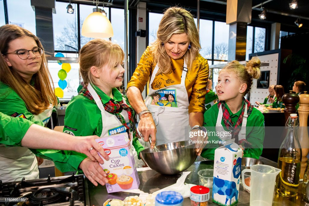 Queen Maxima Visits Baking Event Of Scouting Netherlands In Noordwijkerhout : News Photo